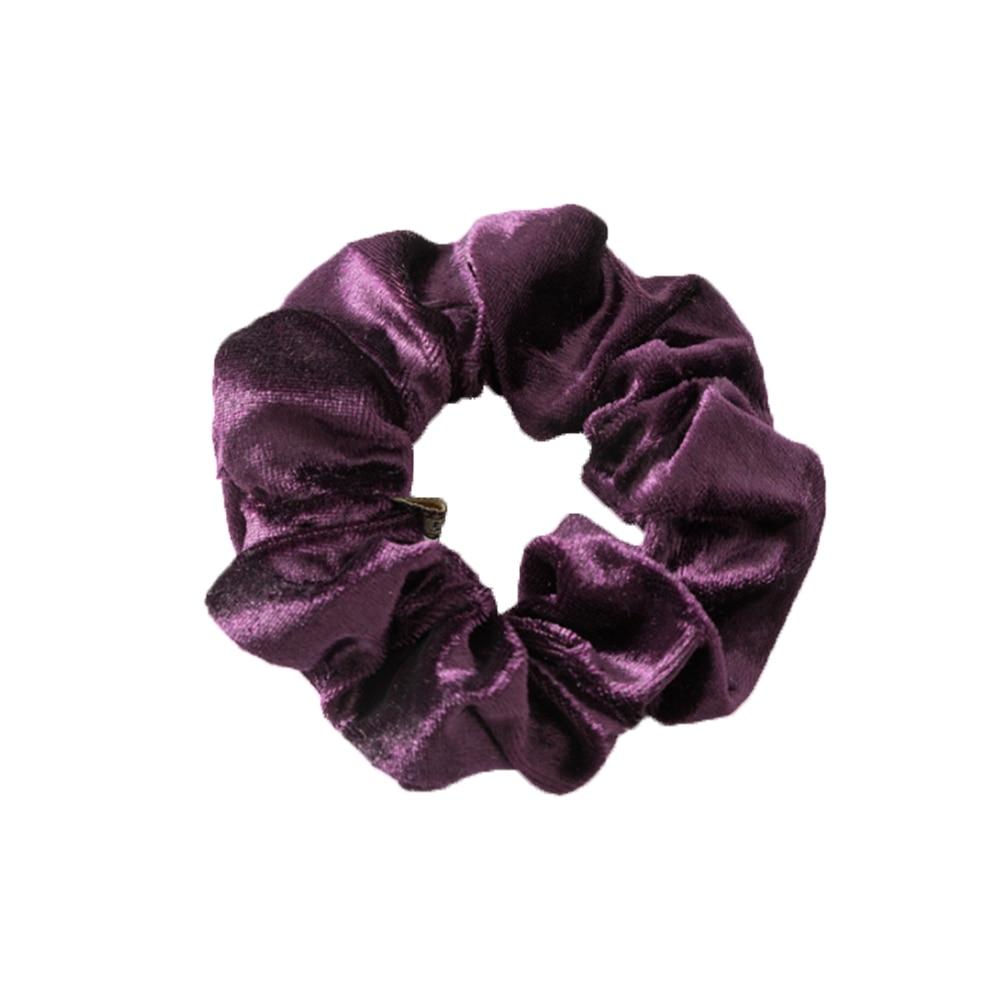 1 шт., женское эластичное кольцо для волос, зимние мягкие бархатные резинки, резинки для волос, милые одноцветные аксессуары для волос, держатель для конского хвоста - Цвет: Фиолетовый