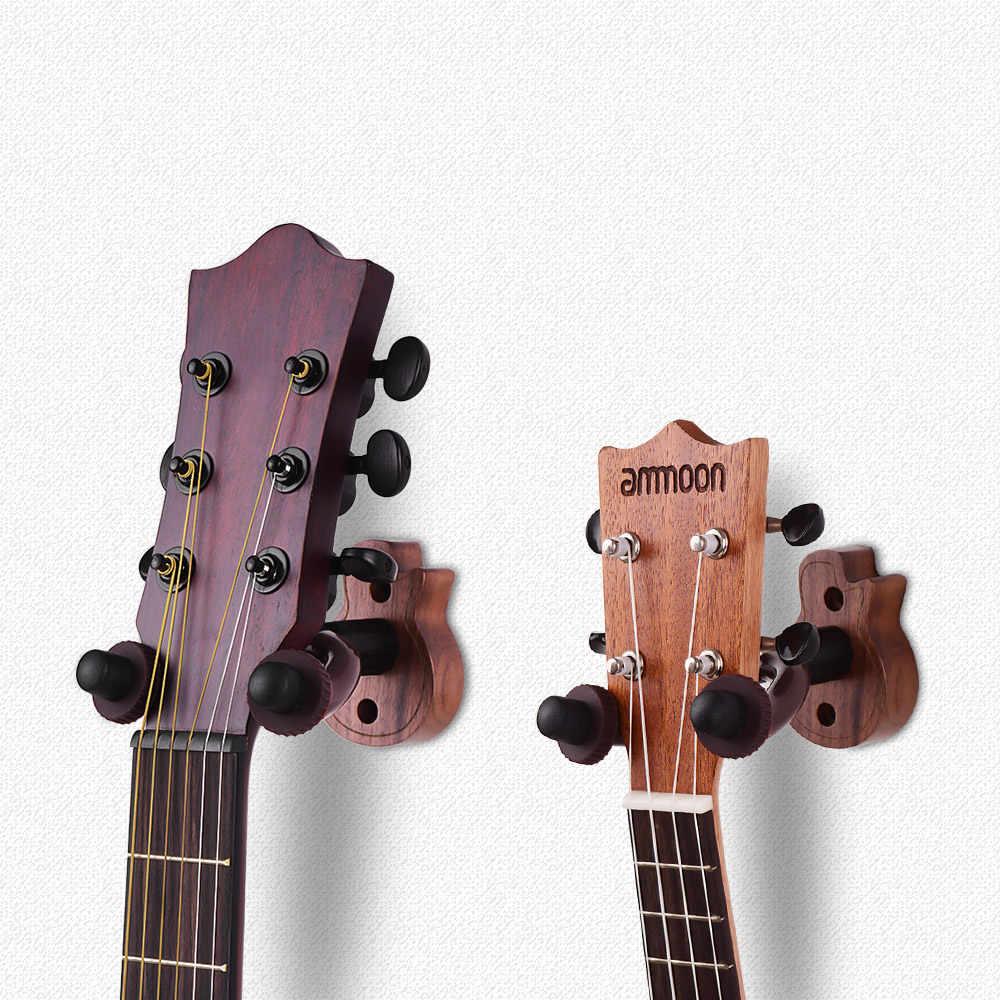 دائم الغيتار شماعات خشبية سلسلة أداة جدار جبل حامل صنارة الصيد حارس للكهرباء الصوتية القيثارات