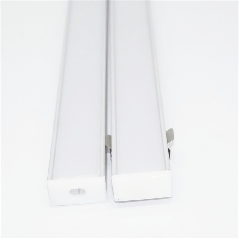40cm Per Piece 16mm Pcb Led Aluminium Profile For Double Row Strip ,8.5mm High Slim Flat Wall Ceil Mounted Diffuser Channel