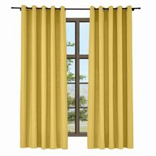 ChadMade Isabella Grommet Solid Cotton Linen Curtain Window Drapery Size and Liner Customized, 35 Colors (1 Panel) Grommet Drape