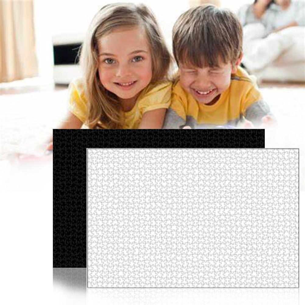 1000 шт белые Пазлы 1000 штук деревянные головоломки для сборки для взрослых Пазлы для детей развивающие игрушки для детей