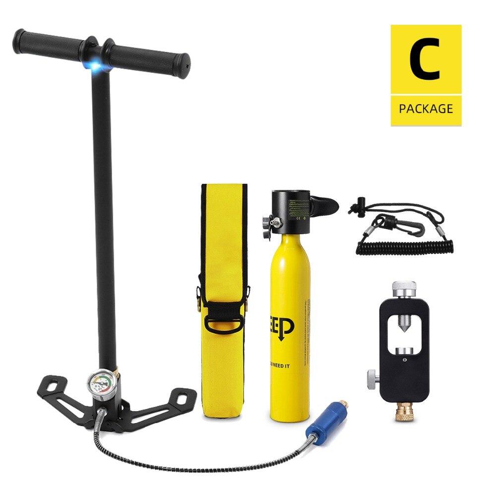 DIDEEP Diving System Mini Scuba Air Tank Scuba Oxygen Cylinder Reserve Air Tank bucear Snorkeling Diving Equipment Tauchflaschen