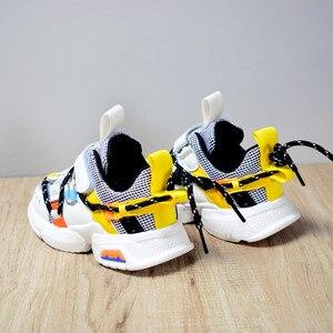 Image 2 - 2020 ילדים חדשים נעלי פעוט בנות ילד סניקרס תחרה עד עיצוב רשת לנשימה ילדי טניס אופנה קטן תינוק נעליים