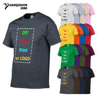 YUANQISHUN Brand 17 Colors Top Quality Customized Print T Shirt for Men DIY Your like Photo or Logo White Top Tees Men's T-shirt