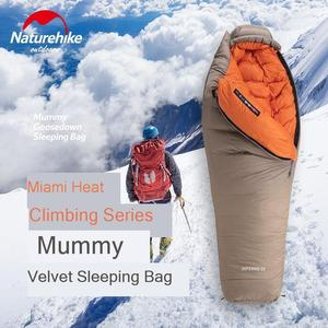 Image 2 - Naturehike 2019 20D Winter Thicken Mummy Goose Down Sleeping Bag Super Keep Warm 750FP Comfort Restriction Temperature  15℃  42℃
