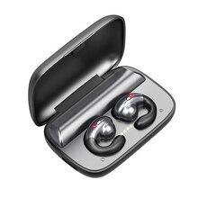 骨伝導ヘッドセット Bluetooth イヤホン 5.0 ミニワイヤレスヘッドフォン Blutooth のイヤホンと TWS イヤ充電ボックス