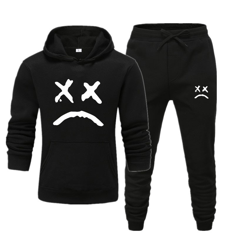 Lil Peep Funny Hoodies 2019 Lil Peep Printed Sweatshirts+Jogger Pants For Men Casual Fleece Streetwear Hoodies Cry Baby Lil Peep