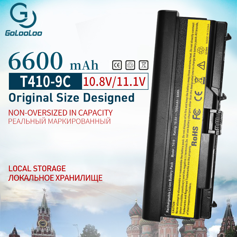 6600 mAh лаптоп с Батарея W520 для lenovo ThinkPad Edge E40 E50 L410 L412 L420 L421 L510 L520 L512 SL410 SL510 T410 T420 T510 T520