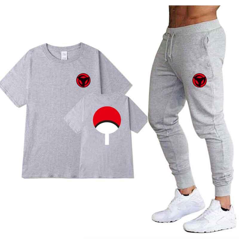 2020 Summer Dragon Ball Z Men T Shirts+pants 2piece Hot Sale Cotton Comfortable Short Sleeve Tshirt Men Casual Tops Pants
