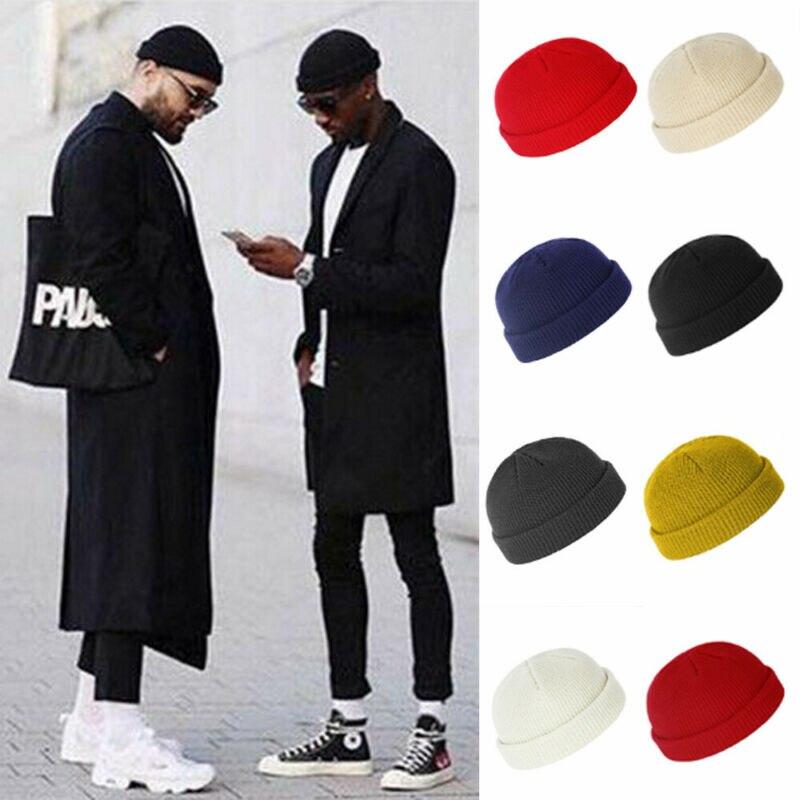 Brand New Fashion Mens Ladies Knitted Solid Color Beanie Winter Warm Unisex Casual Ski Skullies Cap Fisherman Docker Hat