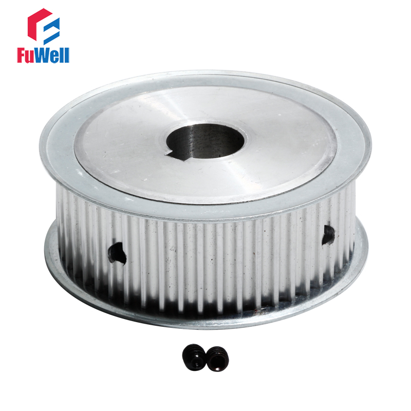 HTD 5M-50T Timing Belt Pulley 27mm Width Gear Pulley With Keyway 12/14/15/16/18/19/20/25mm Bore 50Teeth Transmission Pulley
