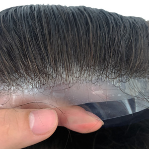 Мужской парик из искусственной кожи, 100% человеческие волосы без повреждений, мощный узел, средняя плотность волос, тонкая кожа, замена мужской t System|Парики|   | АлиЭкспресс