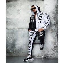 Костюм Мужской Хлопковый в стиле хип хоп спортивная одежда с