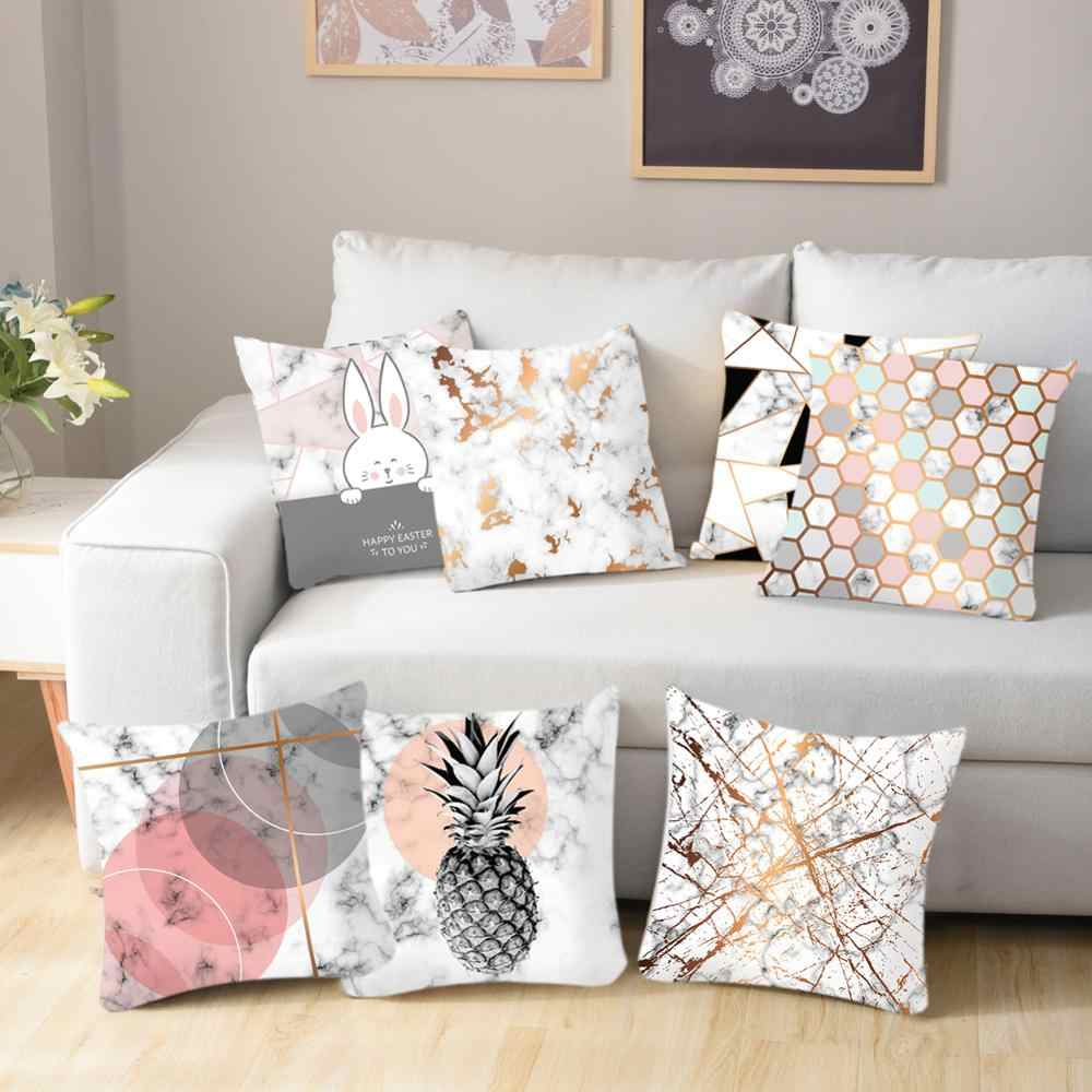 Fashion High-end Decorative Cushion Cover Linen Print Home Office Chair Waist Pillow Sofa Car Throw Pillowcase Almofada45*45CM