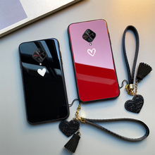 Case & Strap For VIVO S1 Pro v17 Y9S Y98 Z6 iqoo 3 funda Red Black Heart Hard Glass back silicone Cover For VIVO V17 Pro gkk 3 in 1 case for vivo v15 pro case 360 degree full protection hard pc phone back cover for vivo s1 pro case matte funda coque
