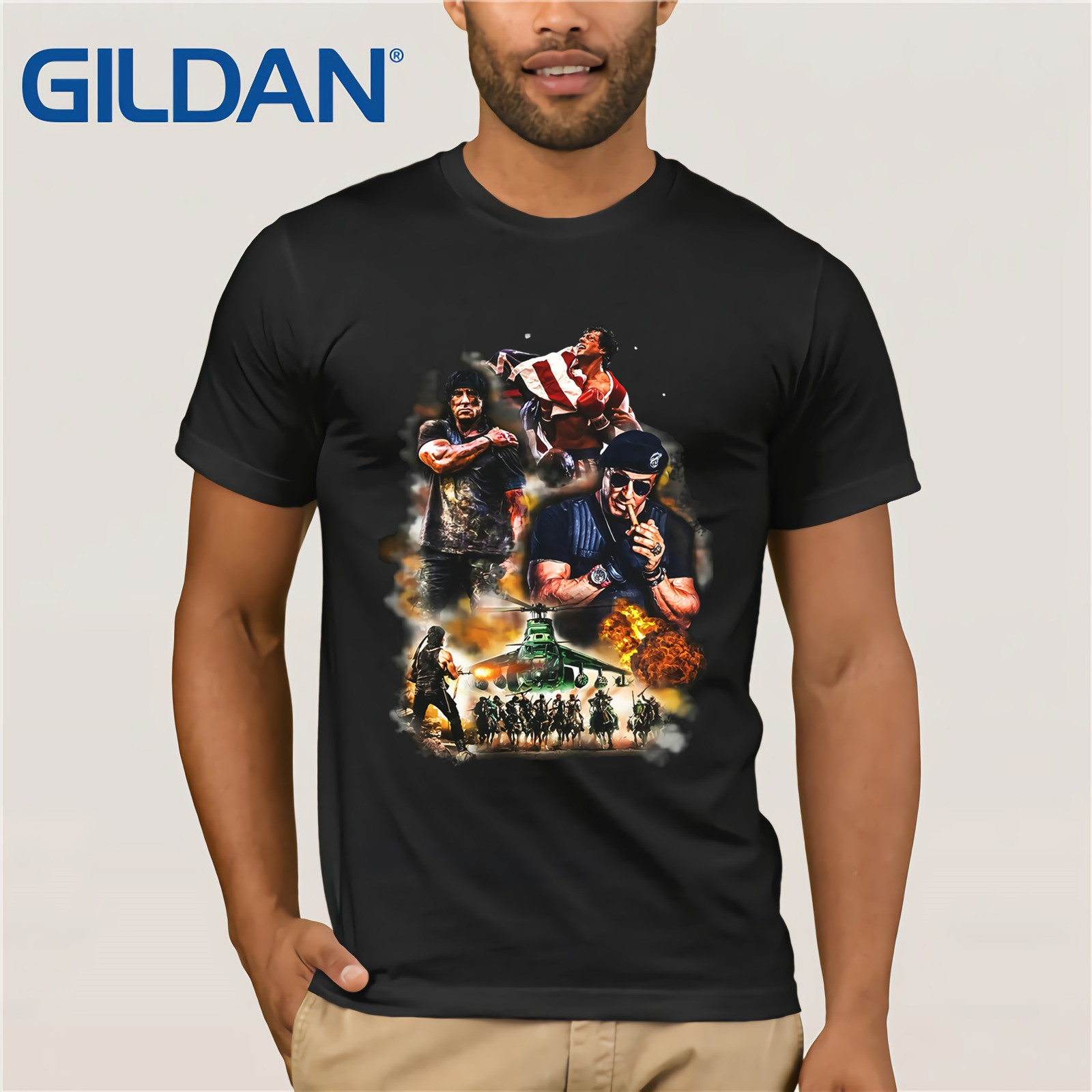 Sylvester Stallone Damen Girlie Rambo Rocky Boxing Balboa Fun Kult T Shirt 2019 Summer Herren Short Sleeve T Shirt Tee Buy At The Price Of 7 89 In Aliexpress Com Imall Com