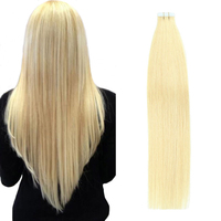 Gazfairy 22'' 2.5g/pc Tape In Remy Human Hair Extensions Double Drawn Straight Seamless Skin Weft Adhesive European Tape Hair