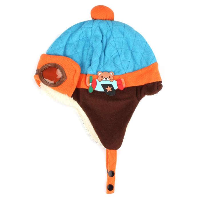 2020 baby winter hat Boys Warm Cap Hat Beanie Pilot Crochet Earflap Hats newborn photography props bonnet bebe naissance