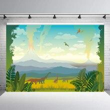 BEIPOTO динозавр лес День Рождения фотография для фона для мальчиков вечерние Принадлежности Декор-баннер фотостудия реквизит