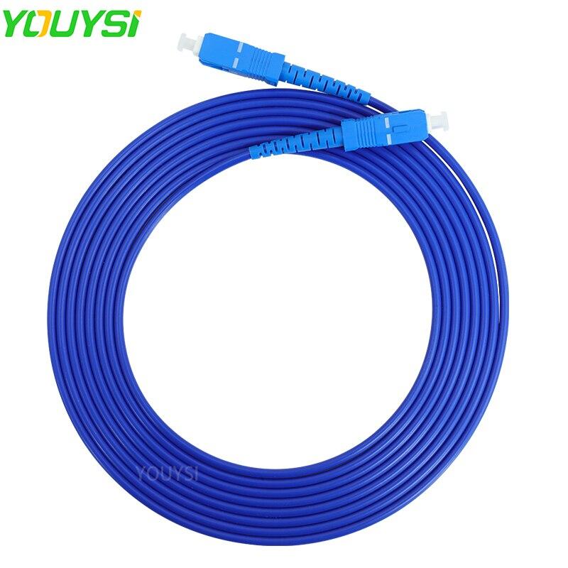YOUYSI SC-SC UPC Armored Fiber Optical Cable Patch Cord Simplex SM FTTH Fiber Optic Jumper Cable 3m/5m/10m/15m/20m/30m