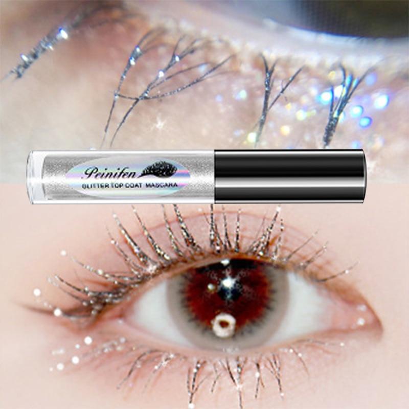 Diamond Glitter Mascara Quick Dry Water Drop Makeup Long Lasting Waterproof Curling Thick Shiny Eyelash Mascara