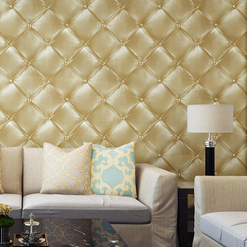 Papier Peint de salon européen de luxe 3d Papier Peint géométrique Vintage nordique décor à la maison Papier Peint grille Papier Peint EZ234