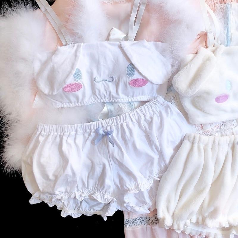 Hec61a569db694b7ba5988a4e80f46699O - เสื้อผ้าเซ็กซี่ ชุดนอนน่ารัก ชุดชั้นในสำหรับสาวๆ เด็กสาวกระต่ายน้อย สีขาว สีชมพู COSPLAY Kawaii Cinnamoroll My Melody