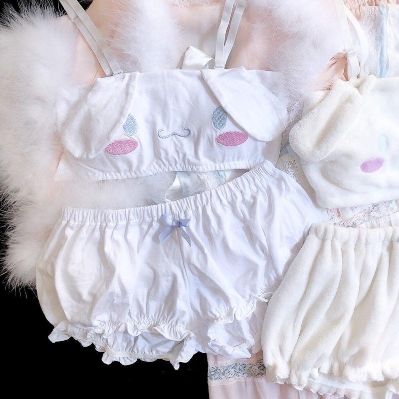 Hec61a569db694b7ba5988a4e80f46699O Cinnamoroll My Melody Clothes Sexy Cute Lovely Bunny Girl White Pink Anime Cospaly Kawaii Christmas Lingerie Outfits for Women