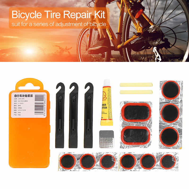 1 Set Mountain Bike Repair Tools Outdoor Bicycle Repair Tool Kits Fix Flat Rubber Kit Tire Tube Patch Glue Cycling Kit
