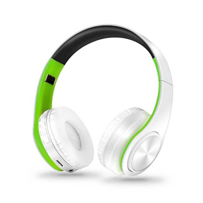 Nowy przenośny bezprzewodowy/a słuchawki Stereo Bluetooth składany zestaw słuchawkowy Audio Mp3 regulowany słuchawki douszne z mikrofonem dla muzyki
