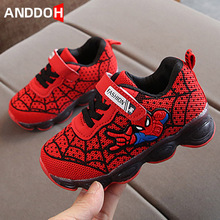 Spiderman Children Boys Shoes Kids LED Shoes