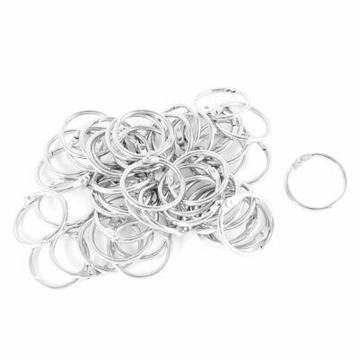 30mm Openable Dia Metal Spring O-Ring Loose Leaf Ring 50 Pcs
