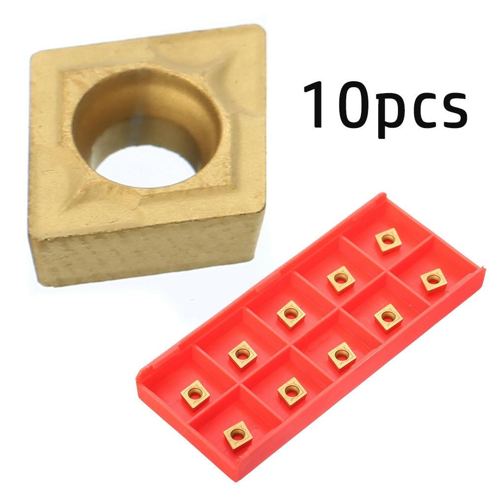 10 Pcs CCMT060204 US735 CCMT21.51 Lathe CNC Carbide Blades Insert For Lathe Boring Turning Tools Accessories