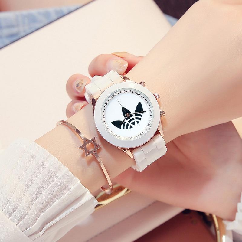 Часы женские кварцевые с силиконовым ремешком, Простые Модные повседневные, подарок для детей, Прямая поставка