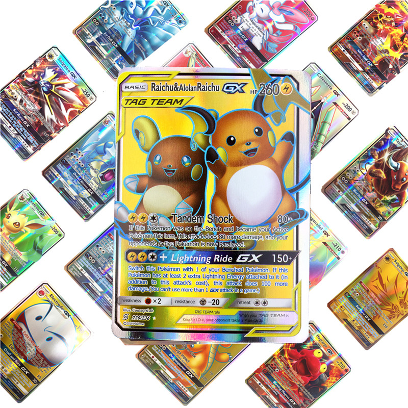 High Quality Children Toy English GX   Pokemones  Cards Toys Card Game Battle Carte Trading Energy Charizard Collection Card