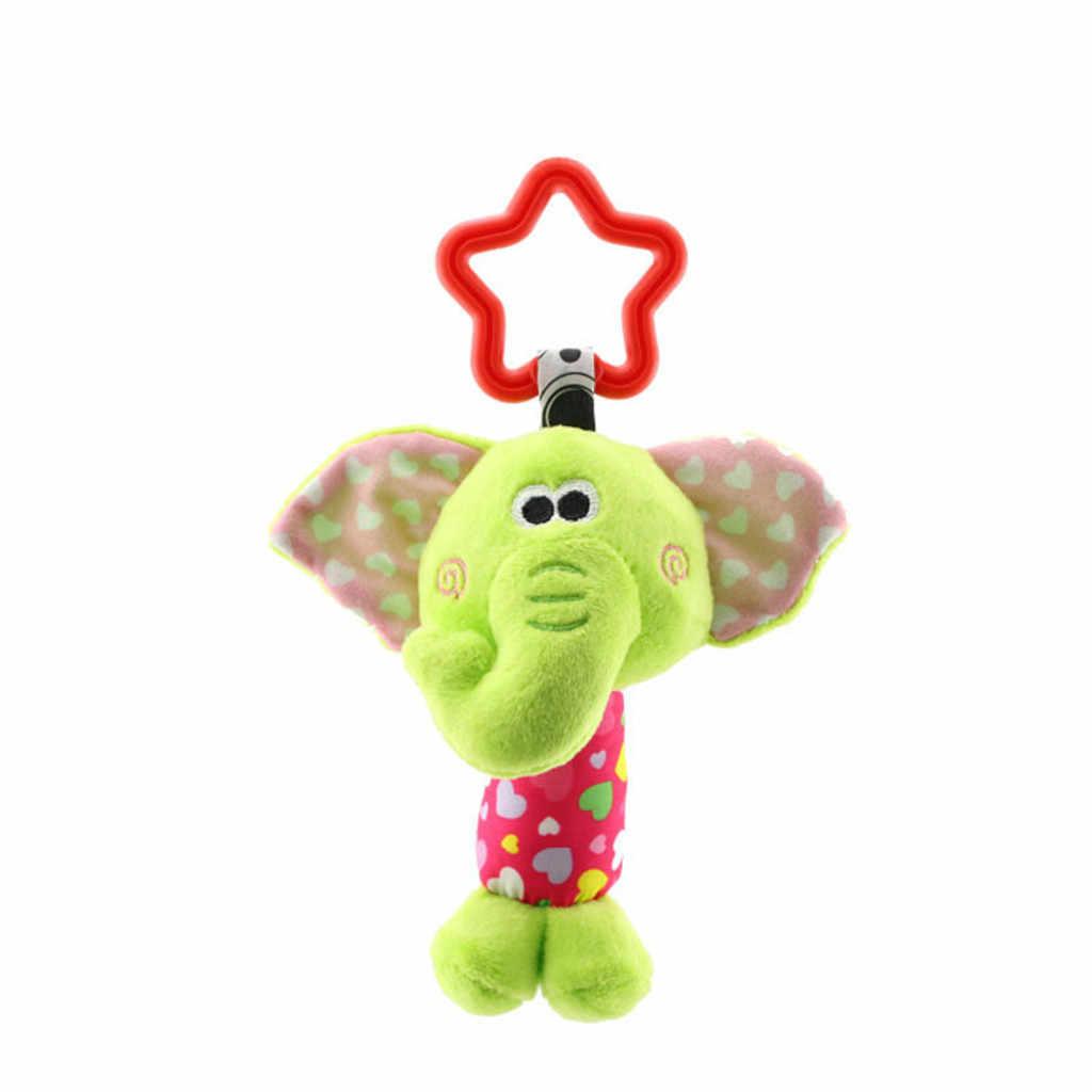Bebé recién nacido sonajeros de peluche con mordedor lindo Animal colgando campana juguetes de juguete muñeca sonajero de felpa juguete educativo