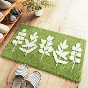 Image 5 - Honlaker緑の葉植毛マットスリップ吸収性マイクロファイバー浴室の敷物ホーム玄関ドアマットスーパーソフトバスカーペット