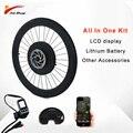 36 в 250 Вт Электрический велосипедный набор двигателя для MTB шоссейного велосипеда переднее колесо с литиевой батареей и ЖК-дисплеем bicicleta ...