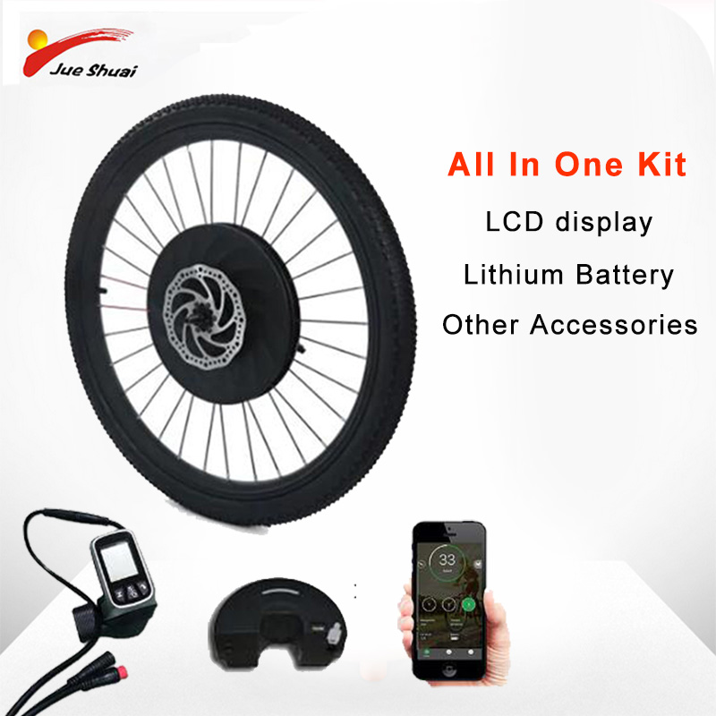 36V 250W Electric Bicycle Motor Kit for MTB Road Bike Front Motor Wheel with Lithium Battery and LCD display bicicleta electrica Electric Bicycle    - title=