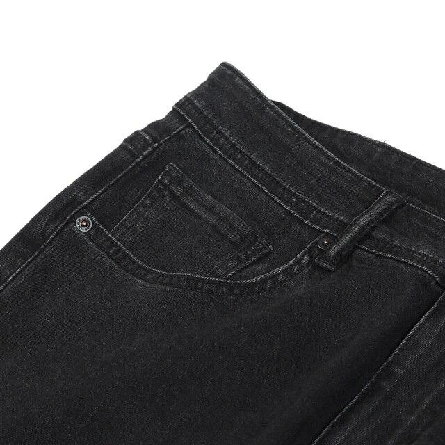 Tapered denim jeans in black