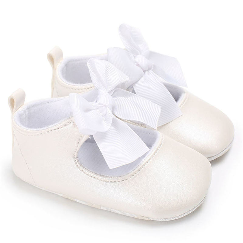 Baby Girl Shoes Newborn Toddler Boy Soft Sole Breathable Bowknot PVC Solid Infant First Walkers Party Princess Baby Crib Shoes