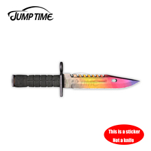 Jump Time 13cm x 3cm Car Accessories Doppler Sapphire M9 Bayonet Knife Skin Car Decor Bumper Stickers(NOTE: THIS IS A STICKER