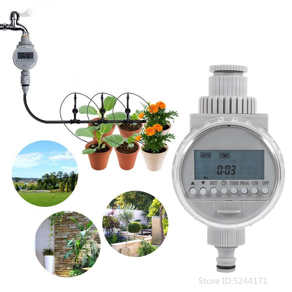 Irrigation Controller Water Timer Two Dial Plastic WiFi Remote Control Garden Automatic Electronic Faucet Watering System