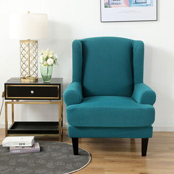Velvet Couch Slipcover For Wingback Chairs 3 Chair And Sofa Covers