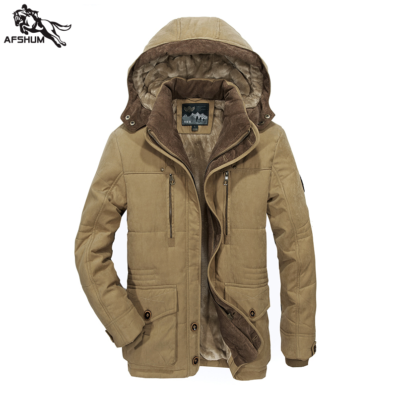 The New Winter Jacket Middle Age Men Parka Plus Thjck Warm Coat Jacket Men's Casual Hooded Coats Jackets Size 4XL 5XL 6XL Ropa