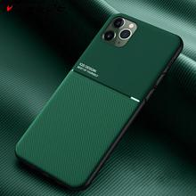 For iPhone 11 Pro Case Slim Leather Text