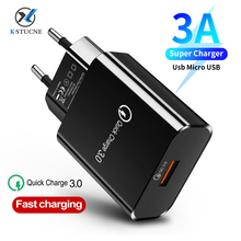 Quick Charge 3.0 USB Charger For iPhone 11 Pro Max Samsung Xiaomi Mi10 QC 3.0 Wall Mobile Phone Fast Charger EU US Plug Adapter eu us plug usb charger 3a quik charge 3 0 mobile phone charger for iphone 11 pro samsung xiaomi 3 port 45w fast pd wall chargers