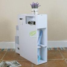 Боковой шкаф для туалета, боковой шкаф для хранения туалета, стойка для хранения пыли, угол пола, зажим для шкафа, узкий Низкий шкаф