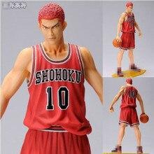 """NEW Japan Anime Slam Dunk Shohoku 10 Sakuragi Hanamichi 11"""" PVC anime Action Figure toy doll gift basketball new drop shipping"""