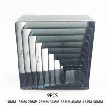 9 ピース/セット日本鋼の刃ルールダイカット鋼パンチ正方形型木材は革カッター用工芸品